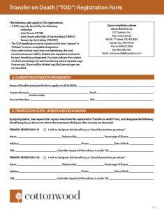 Transfer on Death Registration Form thumbnail